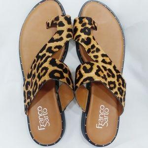 Ginny Leopard Calf Hair Sandals 95